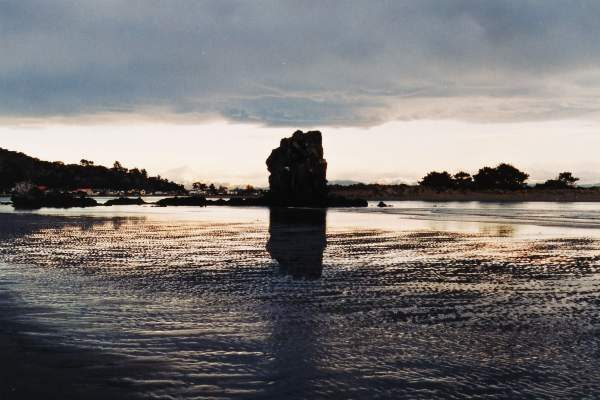 the Iconic Shag Rock,in August 2004, at sunset time before the eartquake