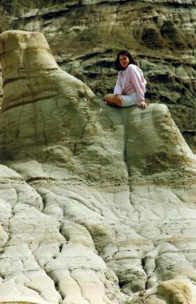 Close-up of Tara Candido on top of a Hoodoo