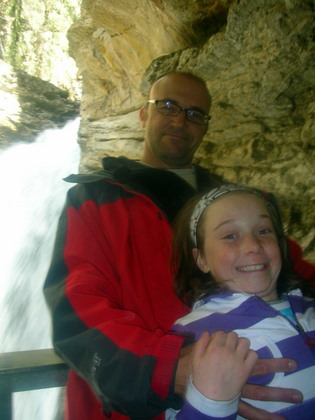 Myself and Isabelle by the Lower waterfalls