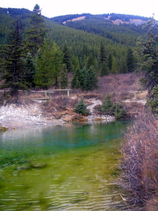The Ink Pots. Mineral Springs by Johnston Canyon