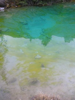 Multicolor Ink Pots in Johnston's canyon