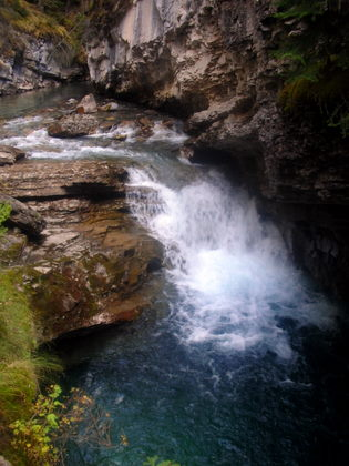 There are plenty of waterfalls in the Johnston Canyon