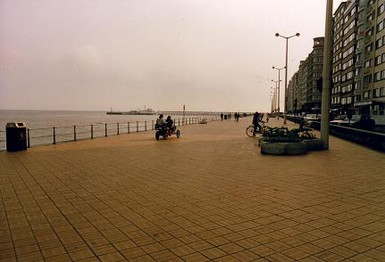 Oostende walkway, my only picture of Belgium