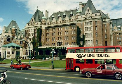 The four star Fairmont Empress Hotel