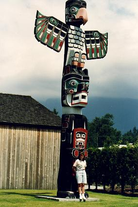 Totem in the Capilano campground