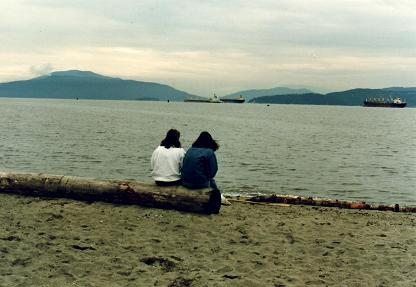 Girls watching the scenery