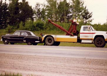 Being towed away somwhere in Northen Ontario