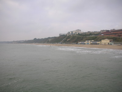 Cliffs of Bournemouth as seen from the pier