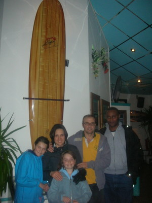 Sola and our family at the Hot Rocks - Surf Restaurant
