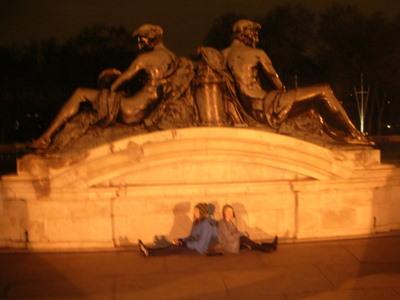 The girls at Trafalgar Square