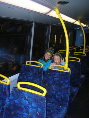Girls in the bus in London