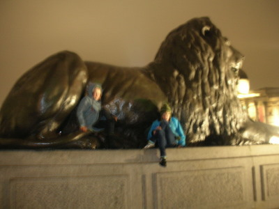 Nadia loved the lions of Trafalgar Square