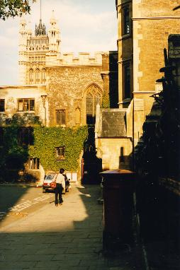 Dave walking by the Wesminster Abbey