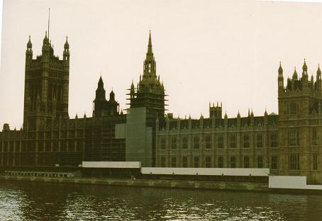 The House of Parlament being renovated in 1985
