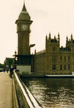Big Ben getting a face-lift in 1985