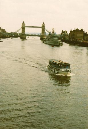Ferries on the Thames River in London