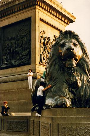 Lions at the Trafalgar Square