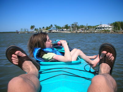 Sea kayaking through the everglades...a relaxing experience