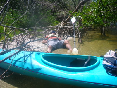 Napping on the Lopez River in the Lopez River