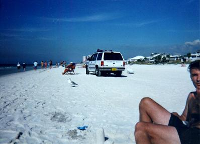 Police patrolling the Clearwater Beach Nadia first picture
