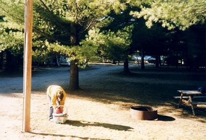 Tara and Isabelle in the camping