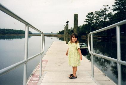 Nadia on the pier at Skidaway Island State Park