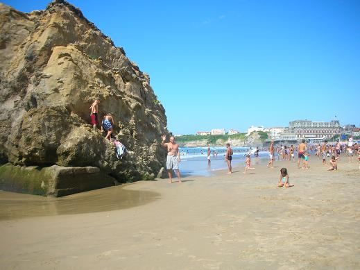 Myself at the La Grande Plage in world-class Biarritz