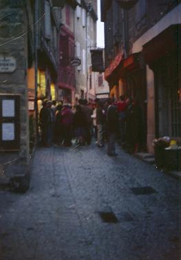 People in Carcassonne, France