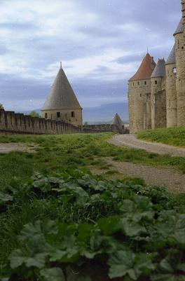 Beautiful remparts in Carcassonne, France