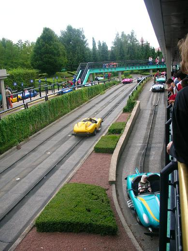 Race cars in Disneyland, Paris