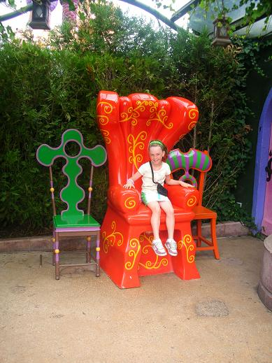 Isabelle Seating on a fancy chair in Paris