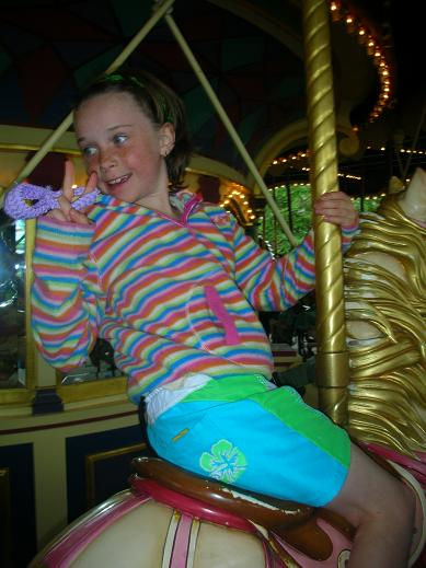 Isabelle at the Carousel in Disney, Paris