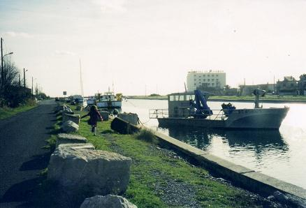 Boats and Nadia near Perpignan