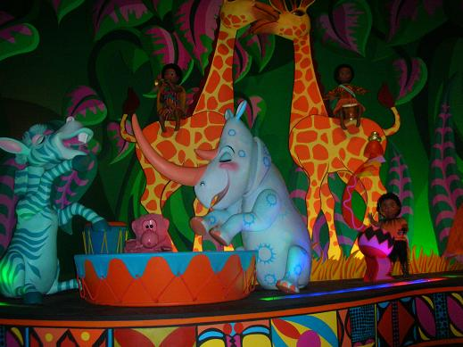 The African jungle in Disneyland Paris at It's a Small World after all