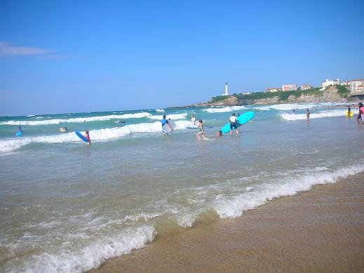 Surfing is a very popular sport on the coast of Biarritz