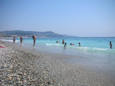 View of the beach in Nice