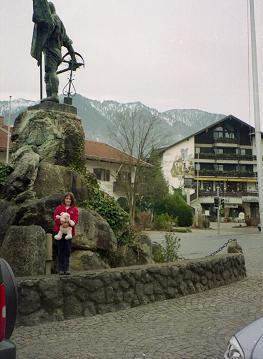 Schmied Balthes Von Kochel statue in Kochel, Germany