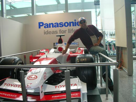 Myself in front of Ralf Shumarer's F1 car