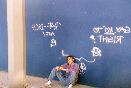 German graffitis in East Berlin