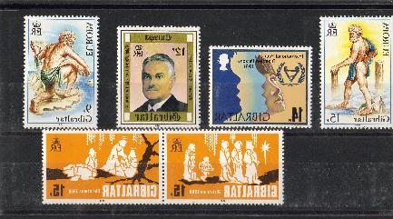 Stamps bought in Gibraltar