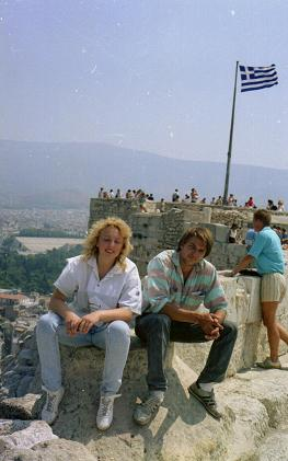 L'Acropole avec une amie Allemande