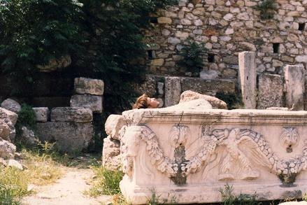 Inside a tomb in Athens