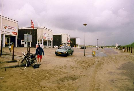 A wet day on the resort of Noordwijk Beach