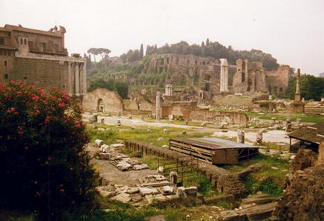Ruins of the old forum in Rome