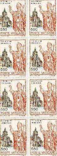 Papal stamps thet I bought at the Vatican