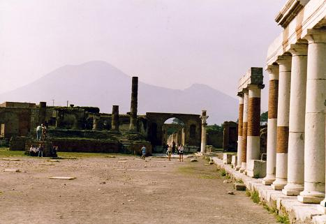 The Forum with the inactive Vesuvius volcano behind
