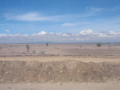Very arid landscapes can be seen from Nairobi to Arusha
