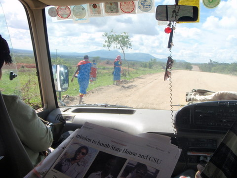Driving through Masai territory