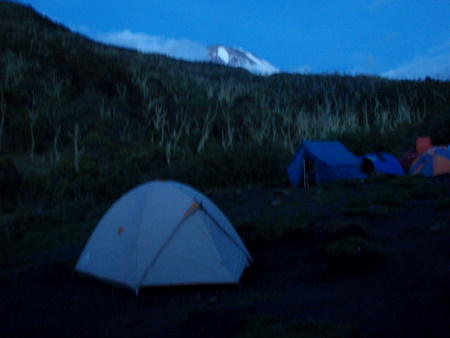First camp: Machame camp (3020m), fully catered