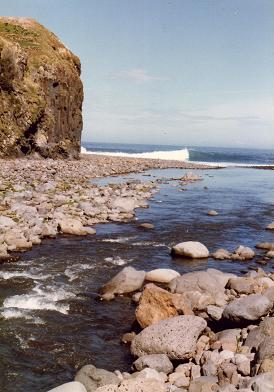 The river meeting the ocean, in Faial Madeira